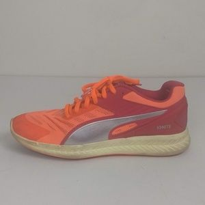 Puma Ignite Orange Red Running Shoes Size 7